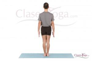 Tadasana - vista de espalda