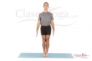 Tadasana - vista frontal