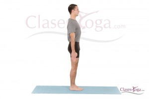 Tadasana - vista lateral